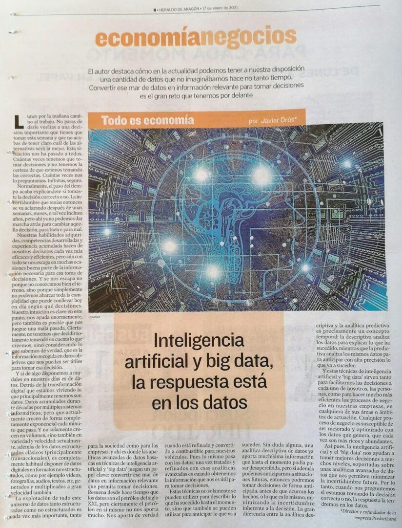 Inteligencia Artificial y Big Data: La respuesta está en los Datos
