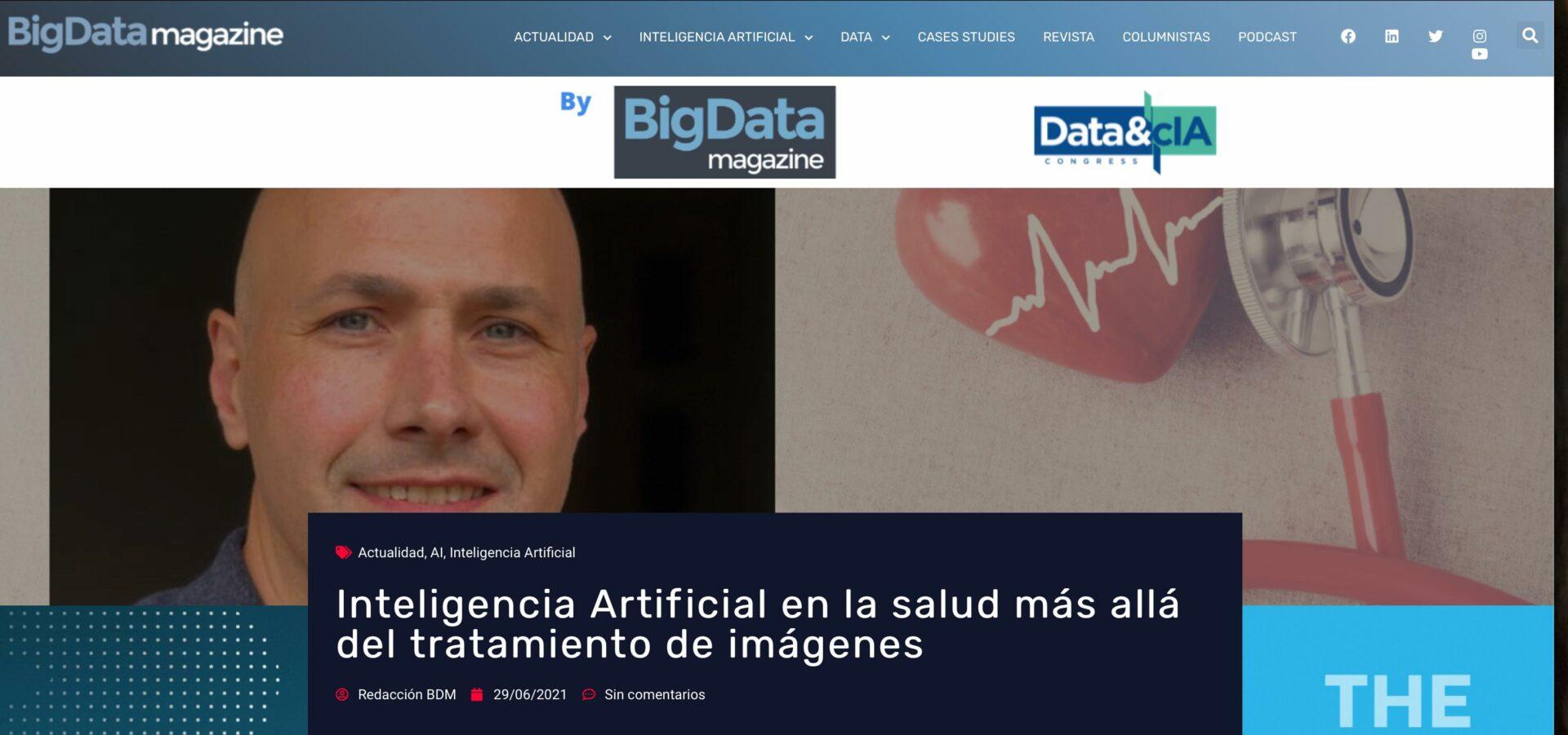 Inteligencia Artificial en la salud más allá del tratamiento de imágenes